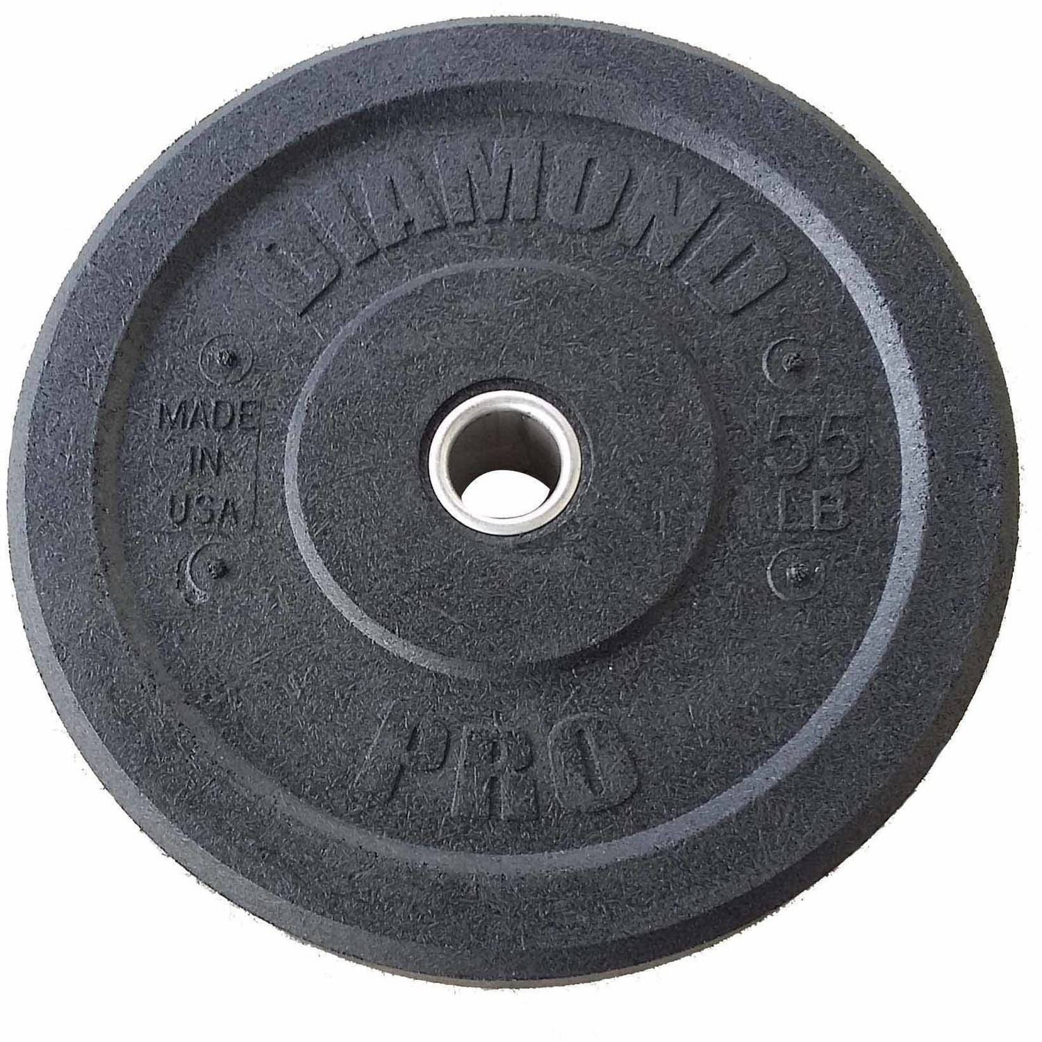 Diamond Pro 55 lb Crumb Bumper Plate Single