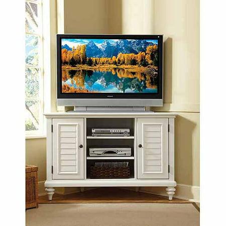 home styles bermuda brushed white corner tv stand. Black Bedroom Furniture Sets. Home Design Ideas