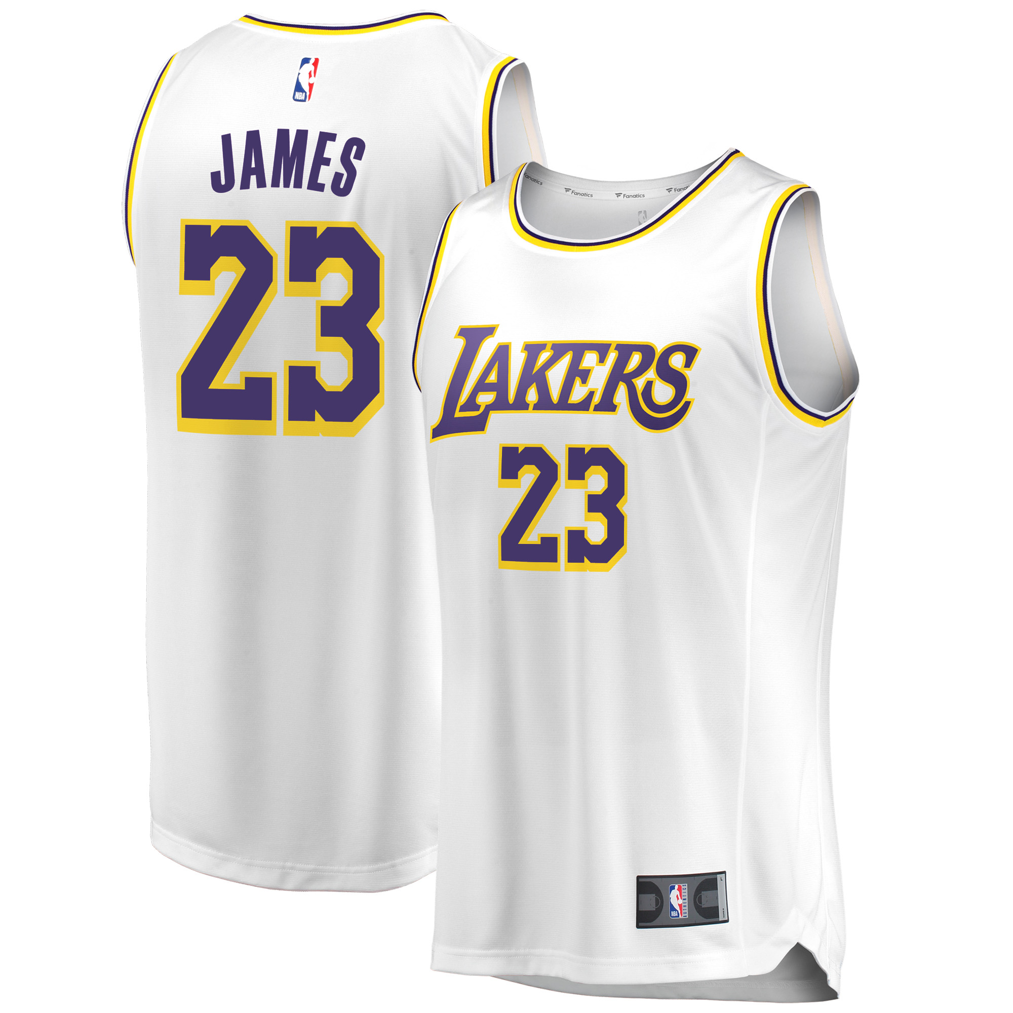 LeBron James Los Angeles Lakers Fanatics Branded 2018/19 Fast Break Replica Jersey White - Association Edition