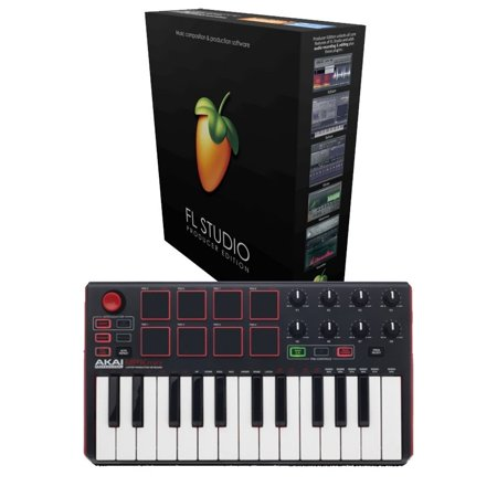 FL Studio 20 Producer Edition Download Card with Akai MPK Mini MK2 for