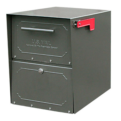Architectural Mailboxes Oasis Post Mounted / Pedestal Mounted Mailbox with Lock