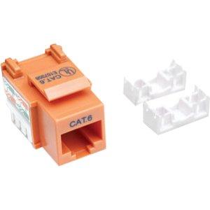 Intellinet Network Solutions Cat6 Keystone Jack UTP Punch-Down Orange 210775 ()