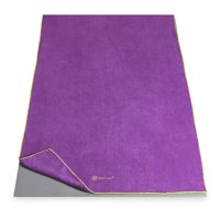 Gaiam Thirsty 24 in. Yoga Mat Towel - Orchid/Citron