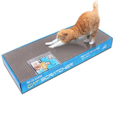 UBesGoo 2pcs Pet Cat Scratching Corrugated Board Scratcher Bed Pad Toy with Catnip