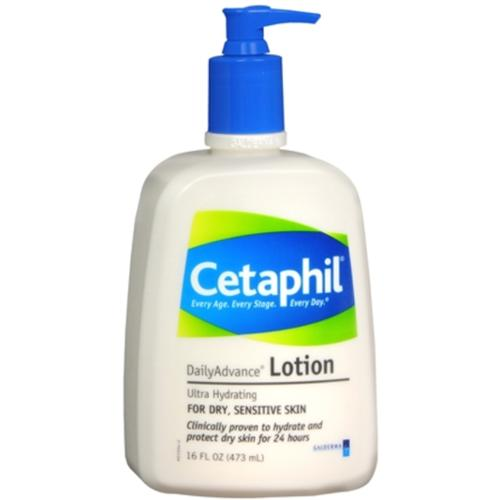 Cetaphil DailyAdvance Ultra Hydrating Lotion for Dry/Sensitive Skin 16 oz (Pack of 3)