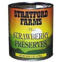 Stratford Farms (6 PACKS : Stratford Strawberry Preserves -8 LB )