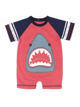 8d8e853df5bb Product Image Shark Romper (Baby Boys)