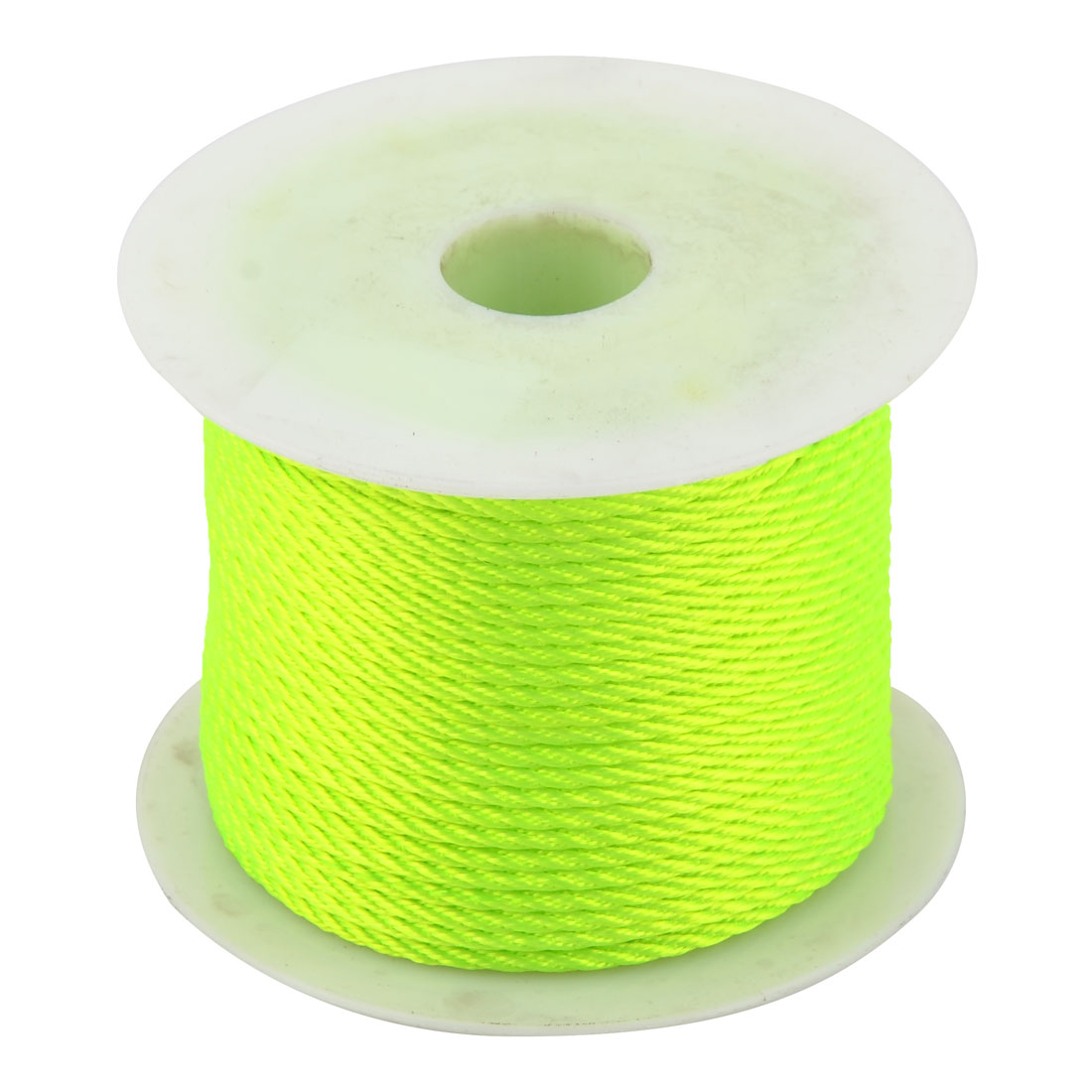 Nylon Chinese Knot Braided Bracelet Cord String Rope Fluorescent Green 39 Yards