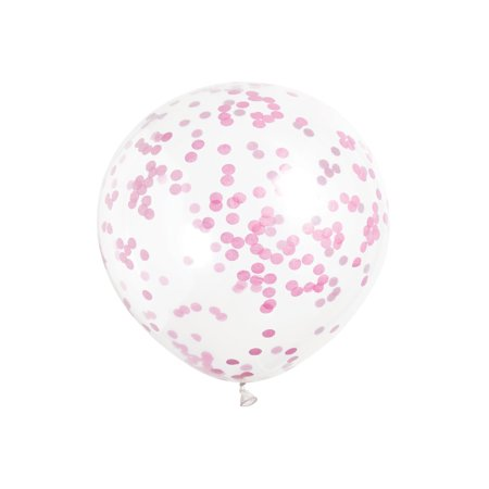Latex Confetti Balloons, Hot Pink, 12 in, 6ct, 3-Pack (18 Balloons)](Clear Balloons)