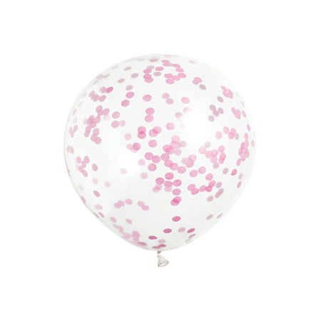 - Latex Confetti Balloons, Hot Pink, 12 in, 6ct, 3-Pack (18 Balloons)