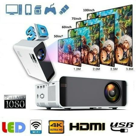 Mini WiFi Mobile Phone with 2400 Lux Same Screen Projector 3D 1080P HD Home Theater Video Projector LCD Office Top