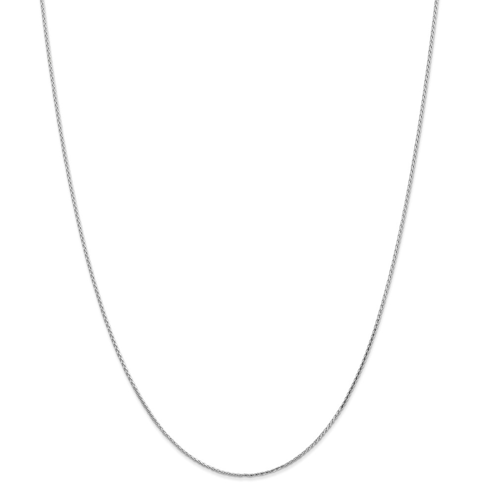 14k White Gold 1.2mm Round Sparkle-Cut Wheat Chain Necklace Length: 14 to 30 by Kevin Jewelers