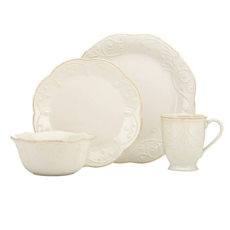 Lenox French Perle White 4 Piece Place Setting