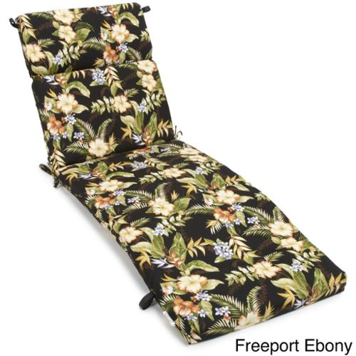 All-Weather UV-Resistant Three-Section Outdoor Chaise-Lounge Cushion Freeport Ebony (REO-12)