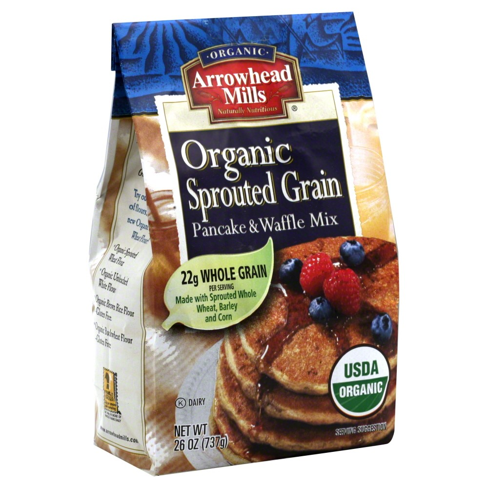 Hain Celestial Group Arrowhead Mills Pancake & Waffle Mix, 26 oz by Hain Celestial