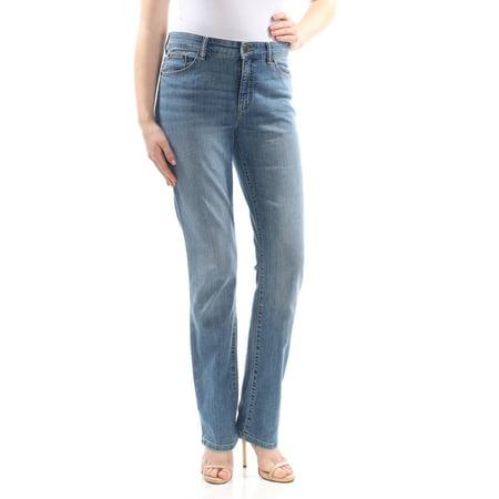 Lauren Flap Pocket Jeans (RALPH LAUREN Womens Blue Pocketed  High-rise Skinny Jeans  Size: 10)