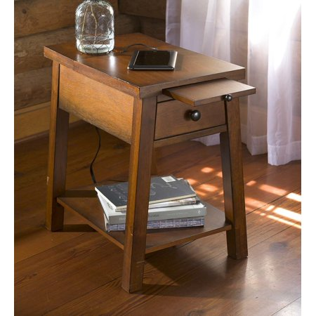 Wood Accent Table With Charging Station Walmartcom