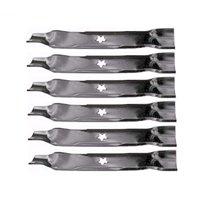 Set of 6 Mower Blades Replaces Craftsman Poulan Husqvarna Blade Numbers 152443, 157033, 145708, 163819