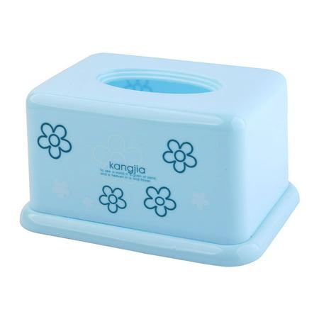 Motif Fleur plast Forme Rectangle Papier Serviette Tissue Case Organiser Box - image 4 de 4