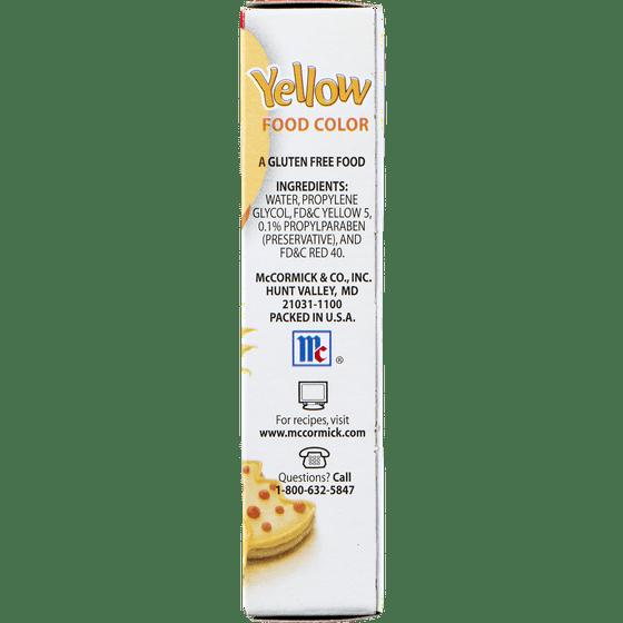 McCormick Food Color Yellow, 1.0 FL OZ - Walmart.com