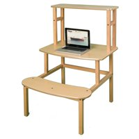 Wild Zoo Student Desk with Optional Hutch - Maple