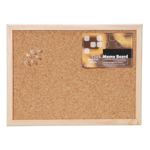 "Framed Cork Memo Board, 12"" x 16"""