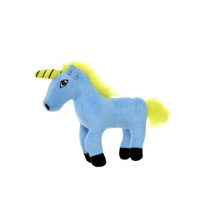 Mighty Junior Liar Unicorn, Durable Dog Toy, blue