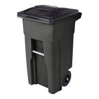 Toter 32 Gal. Trash Can Brownstone with Wheels and Lid