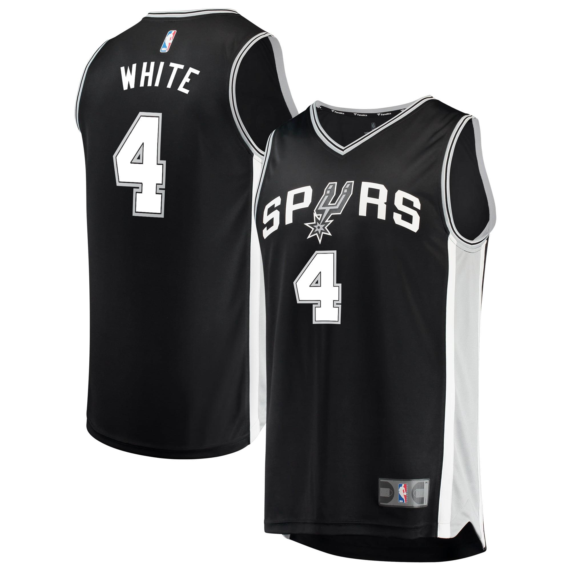 San Antonio Spurs Derrick White Fanatics Branded Youth Fast Break Player Jersey - Icon Edition - Black