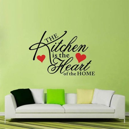 Kitchen Home Heart Removable Vinyl Wall Stickers DIY Decor Art Quote Home Decals - image 3 de 3