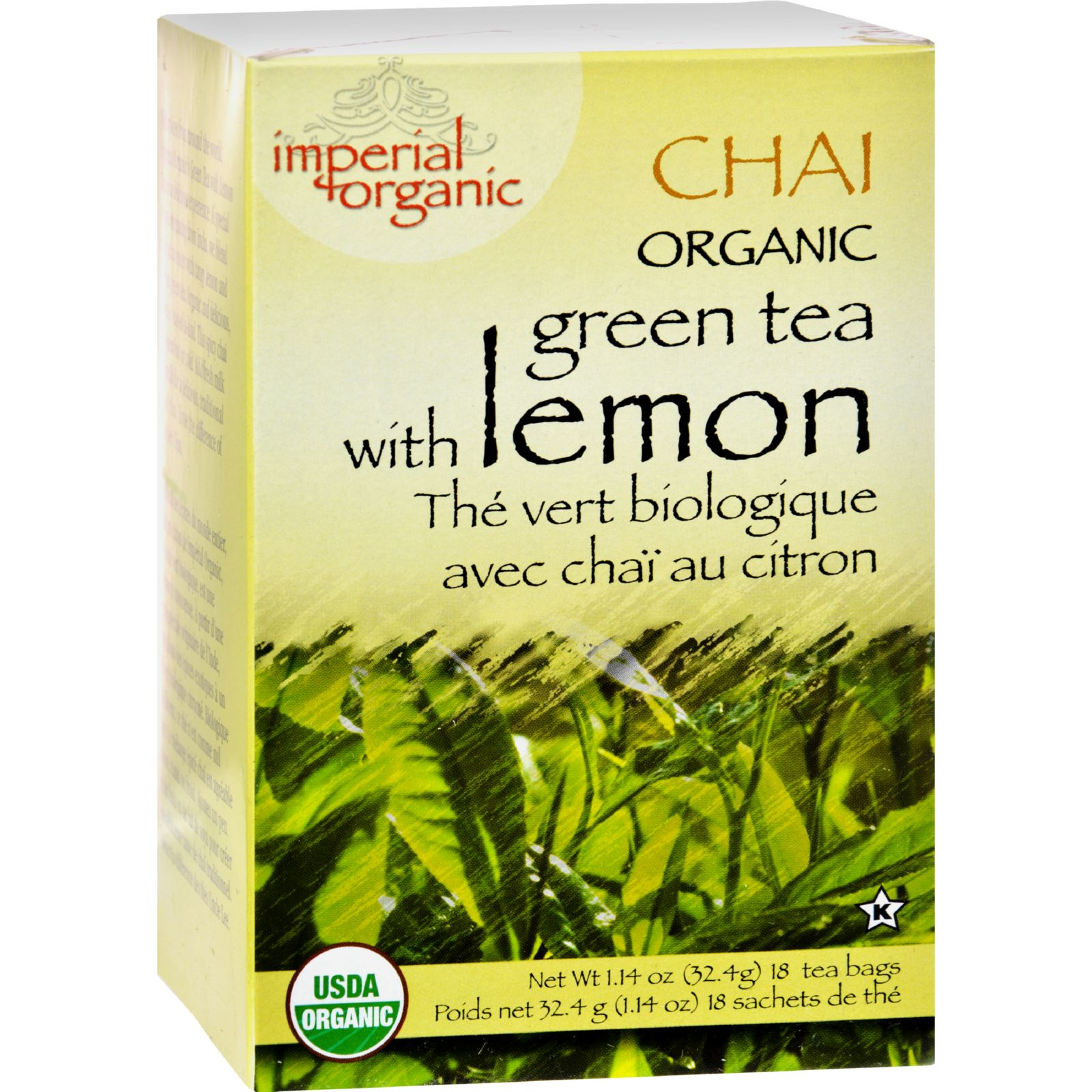 Uncle Lee's Tea Organic Imperial Lemon Chai - 18 Bags