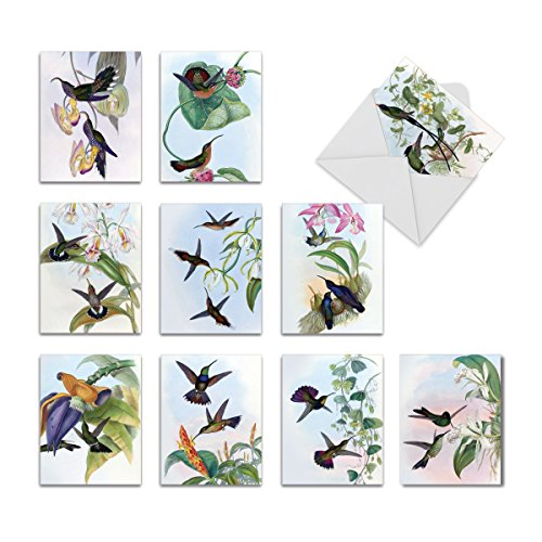 M9687TYG HUMMING ALONG' 10 Assorted Thank You Note Cards with Envelopes by The Best Card Company