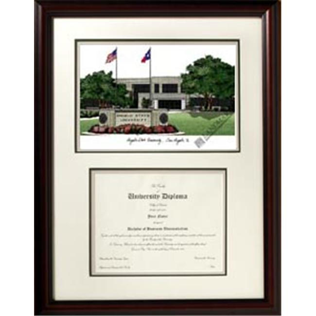 Campus Images TX999V Angelo State University ''Scholar'' Lithograph and Diploma Frame