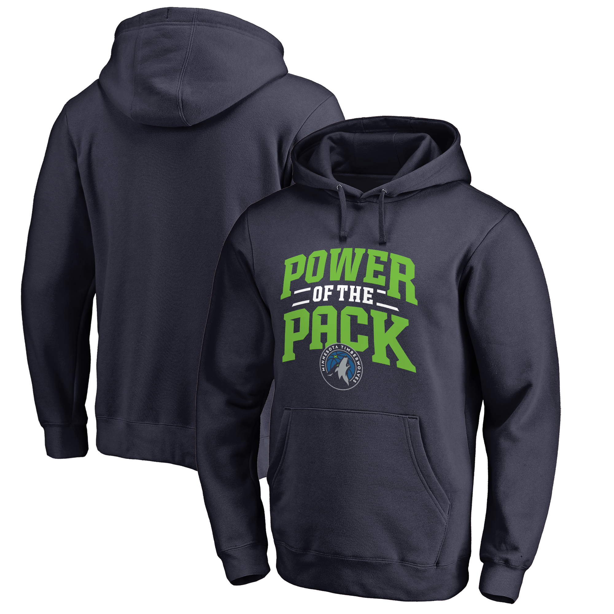Minnesota Timberwolves Fanatics Branded Big & Tall Power of the Pack Hometown Collection Pullover Hoodie - Navy