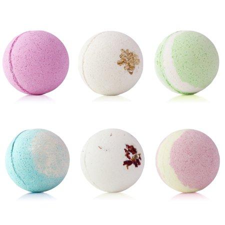 Pearl Bath Bombs (6 Pack) Assorted 9oz XL Bath Bombs, Bath Fizzies: Fun Bath Bombs For Women, Bath Bombs For Kids, Aromatherapy Bath Bomb Set