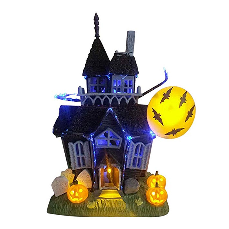 Halloween Decoration Witch Haunt Lit House, Spooky Haunted