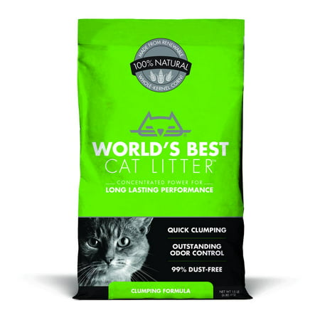 World's Best Cat Litter Clumping Formula, 15-lb (Best Kitty Litter Box For Odor Control)