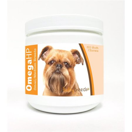 Healthy Breeds Brussels Griffon Omega HP Fatty Acid Skin and Coat Support Soft Chews