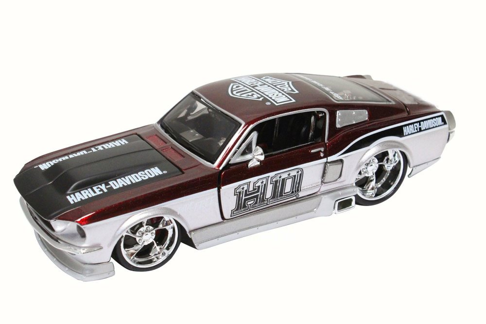 1967 Ford Mustang GT, Metallic Red Maisto Harley-Davidson 32168 1 24 Scale Diecast Model... by Maisto