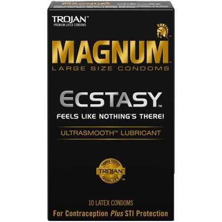 MAGNUM ECSTASY Ultrasmooth Lubricant,10ct (Magnum Condom Costume)