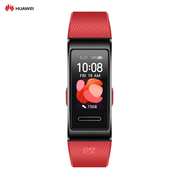 HUAWEI Band 4 Pro 0.95-inch Full AMOLED Touchscreen Smart Band Watch Faces Waterproof BT Sport Fitness Multiple Exercise Mode Smart Heart Rate Monitor Bracelet Built-in Wearables with Silicone Rubb