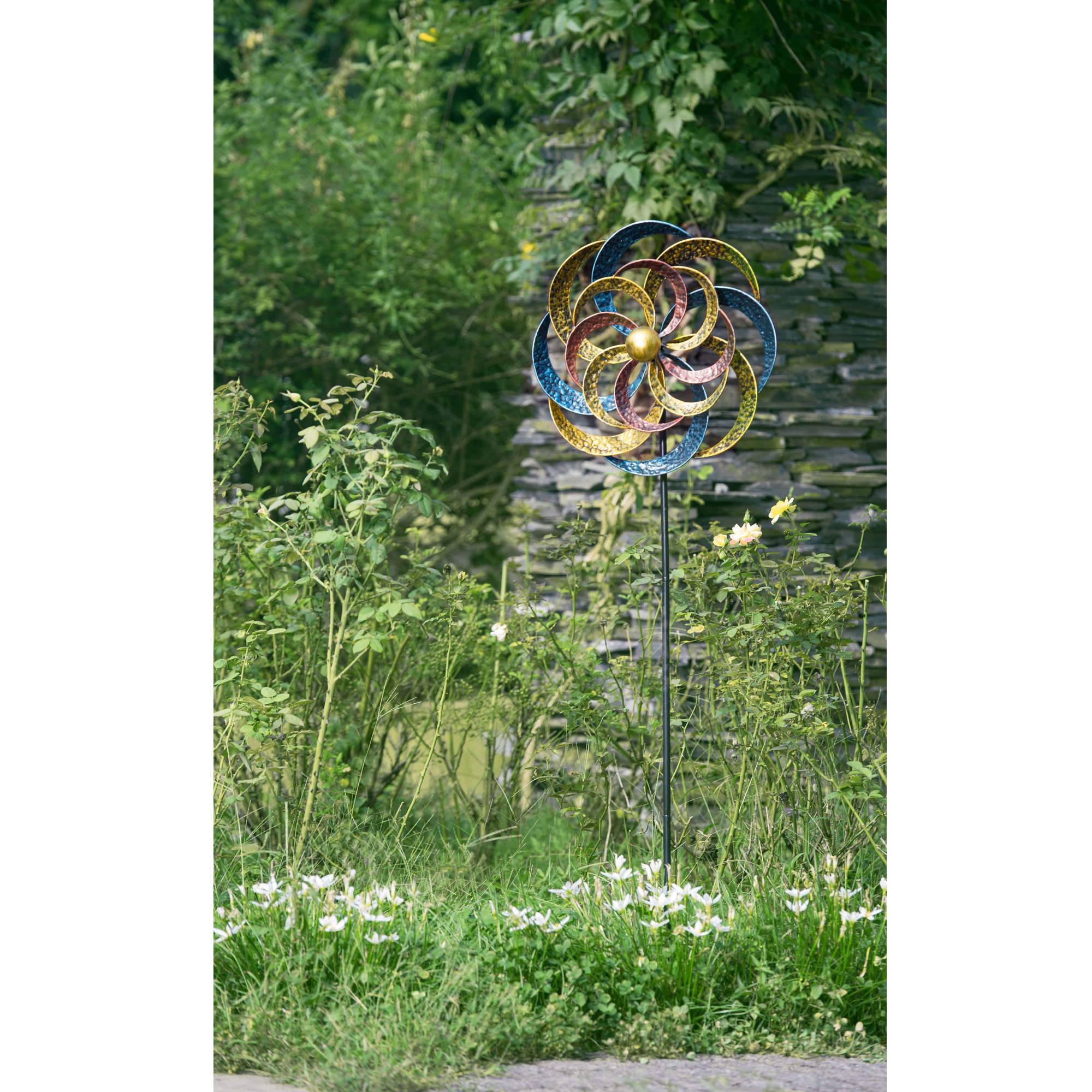 "Sunjoy 110309049 Kinetic Wind Catcher Iron Garden Stake, 59"" by SunNest Services LLC"
