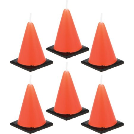 Creative Converting Construction Cone Candles, 6 ct ()