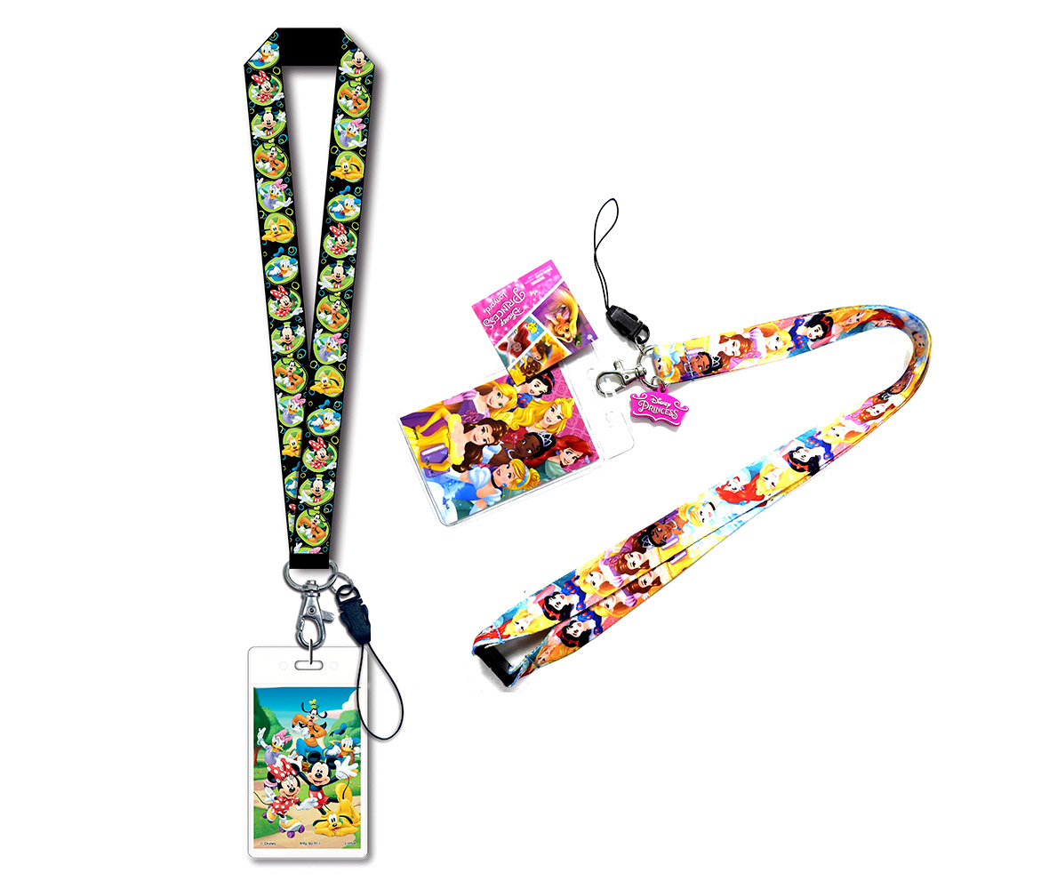 DISNEY MINNIE MOUSE PINK COLOR LANYARD WITH KEYCHAIN CLIP MUST L@@K
