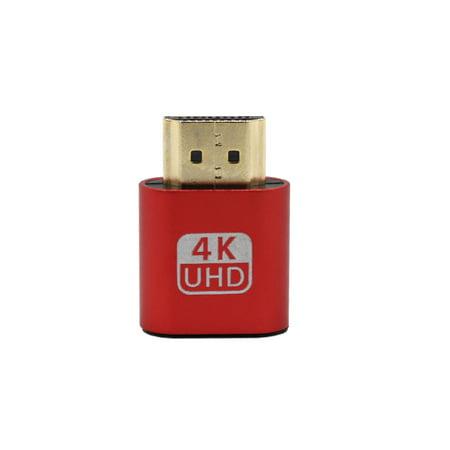 - VGA Virtual Display Adapter HDMI DDC EDID Dummy Plug Headless Ghost Display Emulator Lock Plate 1920x1080 red