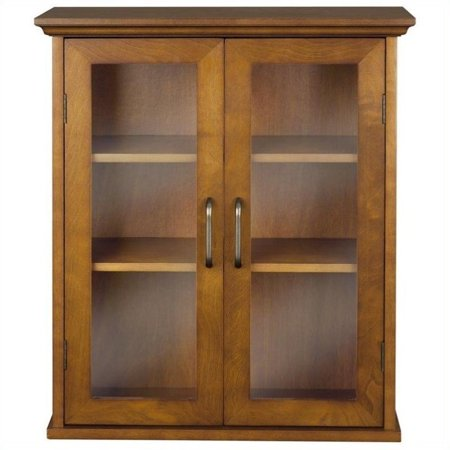 - Atlin Designs 2 Door Wall Cabinet in Oil Oak