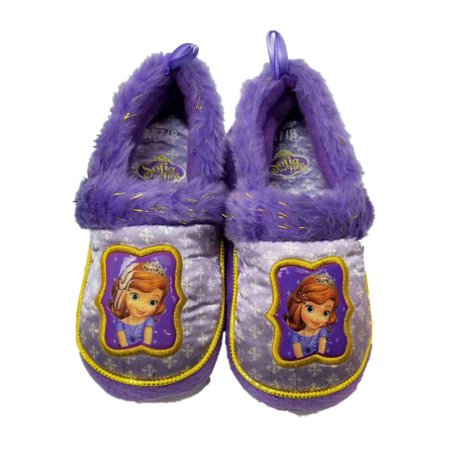 Disney Sofia The First Purple Toddler Girls Slippers Loafer House Shoes M 7/8 - Girls Disney Shoes