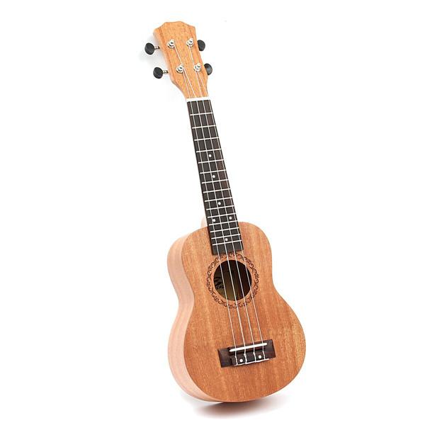 21 Inch Mahogany Ukulele Uke 15 Frets Soprano Hawaiian Guitar Musical Instrument by