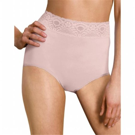 Rosewood  Lacy Skamp Brief Panty - Size 5 Skamp Nylon Brief Panties