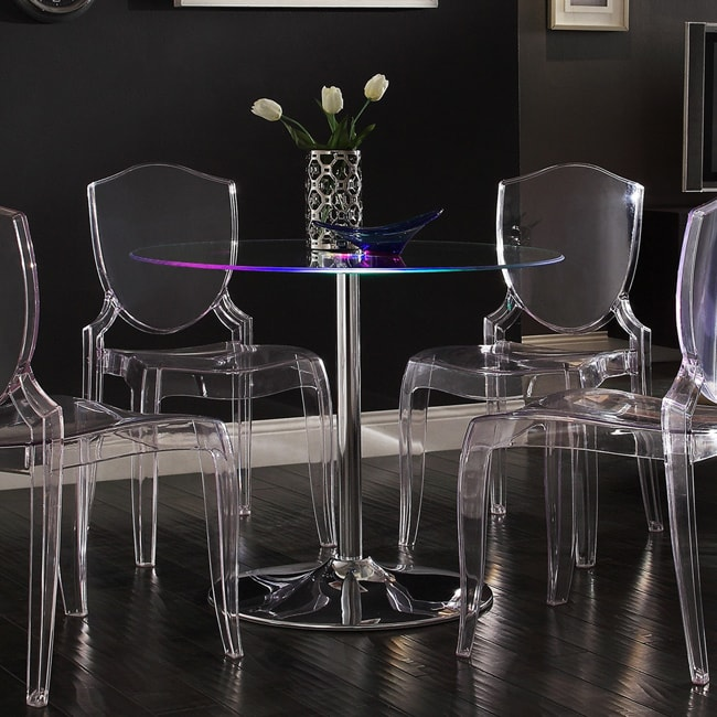 iNSPIRE Q Lorin LED Round Dining Table Modern by Overstock
